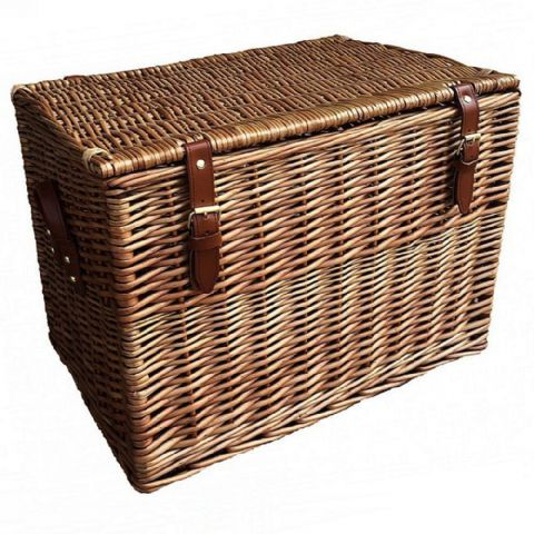 Cotswolds Wicker Bedside Storage Chest Table H 36 x W 50cm